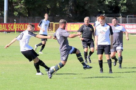 Action from the first (and only) half of the Pagham-Wick game / Picture by Roger Smith