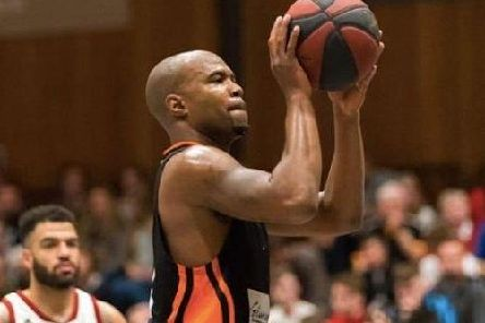 Worthing Thunder's Zaire Taylor. Picture by Kyle Hemsley