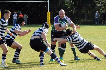 Bognor on the attack against Havant IIs / Picture by Kate Shemilt