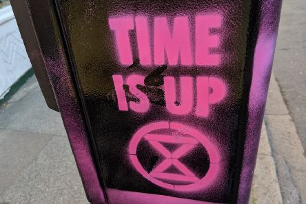 Extinction Rebellion slogans in Chichester