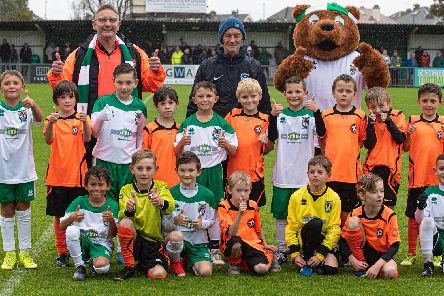 The mascots at Rocks v Potters Bar / Picture: Tommy McMillan
