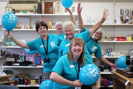 Celebrating the 20th birthday of the St Barnabas House shop in Wick