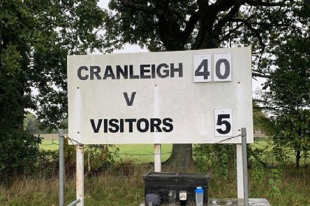 The final score in Cranleigh v Eastbourne. Picture courtesy of Nick Hendy