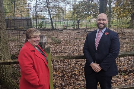 Emily Thornberry and Peter Lamb at Tilgate Park nature reserve