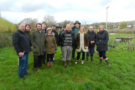 Gary Divall, centre, with the team at Sussex Chilli Farm, which Sustainable Sussex runs on the Sompting Estate