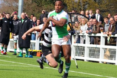 Declan Nwachukwu scored a hat-trick for Horsham in their narrow defeat at Westcombe Park. Picture courtesy of Richard Ordidge