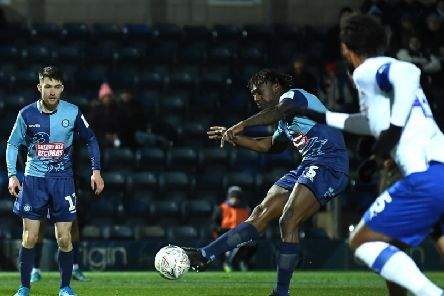 Anthony Stewart fires Tranmere into the lead / Picture by Getty Images