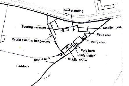 Layout of the traveller site in�Pickhurst Lane, Pulborough,