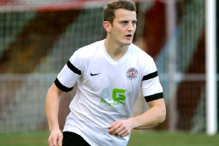 Dave Brown made his first start in two years in Hordham YMCA's 1-0 defeat to Newhaven. Photo by Steve Robards.