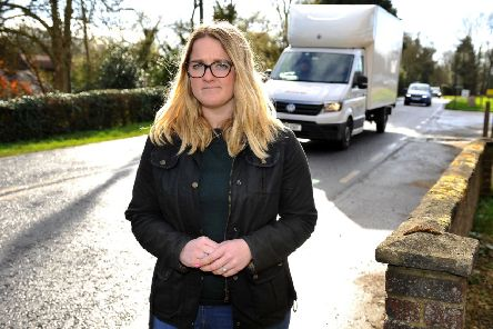 Charlotte Buckingham is calling for the speed limit to be lowered on A281, near a junction. Pic Steve Robards SR2003124 SUS-200313-003225001