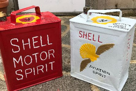 Shell motor and aviation spirit cans
