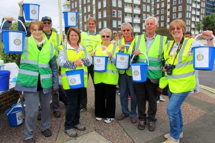 A group of Rotary collectors at this year's Worthing carnival