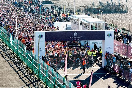 The start of the Brighton half marathon, which is now in its 29th year. Photograph: The Grand Brighton Half Marathon