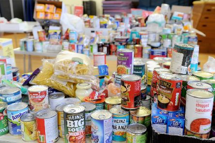 Tins and dried food are donated
