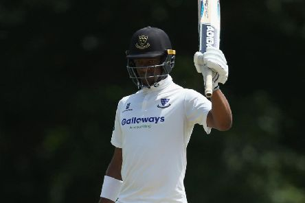 Delray Rawlins scored his maiden first-class century as Sussex tried to save the game at Old Trafford - but there was little else for them to cheer about