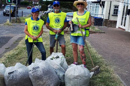 Tidy Up in Adur volunteers in Upper Shoreham Road, Shoreham