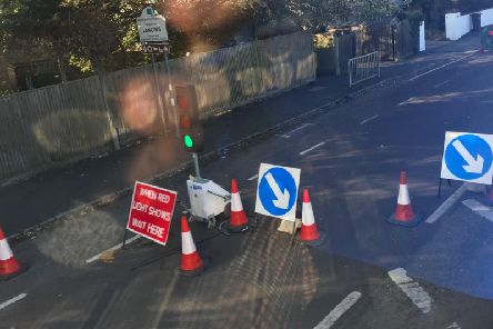 The roadworks in Lancing