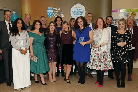 The winners at West Sussex County Council's 2019 awards. Picture: Kevin Shipp