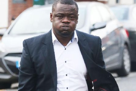 Joseph Onoyeyasorho outside Hove Crown Court today
