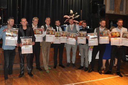 The calendar models at the launch. Picture: Peter Stockwell