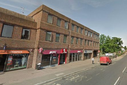 A fire has started in a car park behind KFC in Haywards Heath. Picture: Google Maps