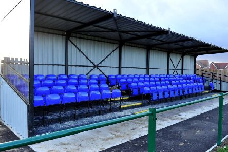 A new stand at Broadbridge Heath's new ground