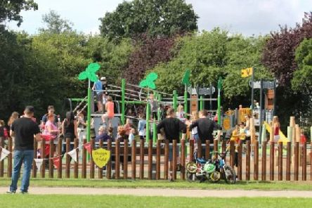 Residents celebrated the opening of the revamped Roffey Rec in August