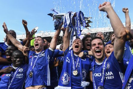Chelsea celebrate winning the Premier League in 2017. Picture by Michael Regan/Getty Images