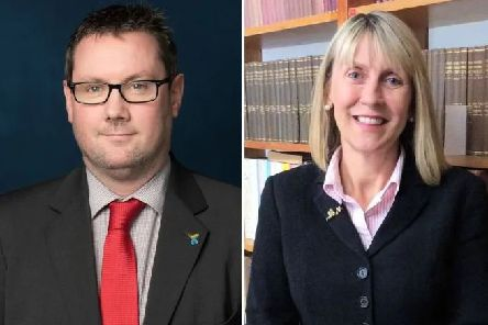 Det Supt Stuart Hale and Penny Schofield. Photo: Sussex Police