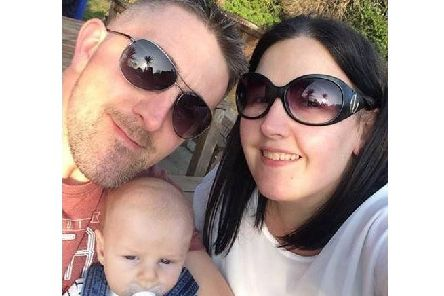 Matt Pounder with his wife Laura, and five-month-old son Jake