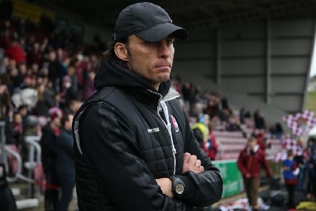 Crawley Town boss Gabriele Cioffi. Picture courtesy of Getty Images