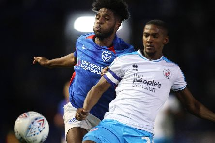 Ellis Harrison and Lewis Young in tonight's clash. Picture by Joe Pepler