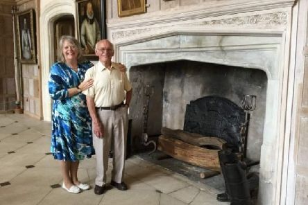Ron welcomed back to Parham Park by Lady Emma
