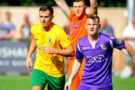 Action from Horsham's FA Cup defeat against league-above Dartford. Picture by Steve Robards