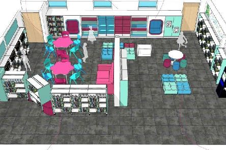 A 3D image of the new childrens library in Burgess Hill. Picture: West Sussex County Council