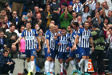Brighton and Hove Albion celebrate