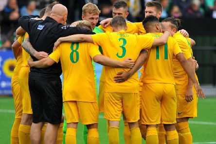 The Horsham team on the opening day of the 2019/20 season. Picture by Steve Robards