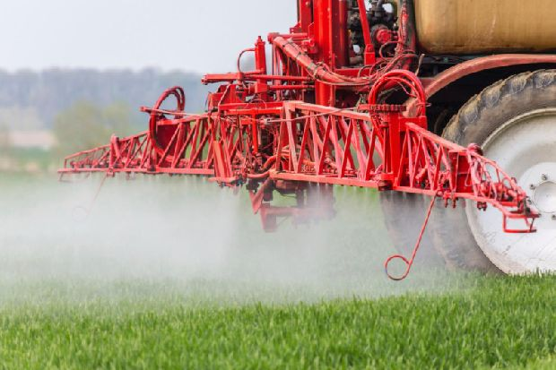 60k acres of land sprayed with controversial herbicide glyphosate
