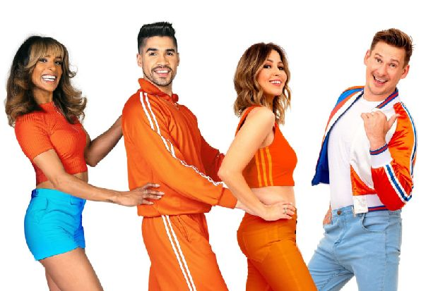 Four stars celebrate the '70s: Melody Thornton, Louis Smith, Rachel Stevens and Lee Ryan party in Eastbourne