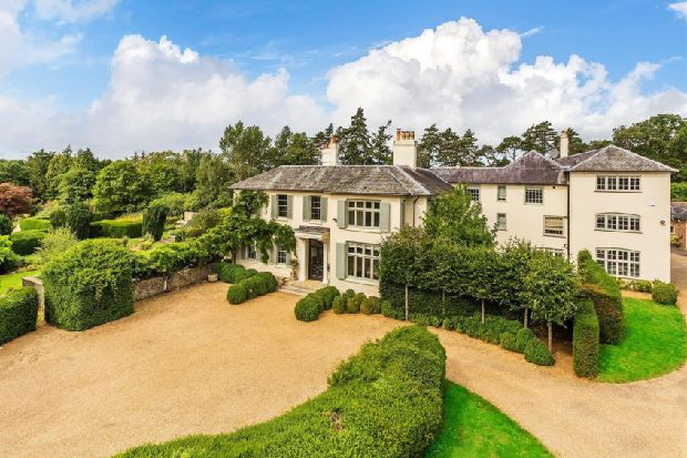 Take a look around this magnificent £8.75m South Downs country house with its own spa, swimming pool, tennis court and football pitch – all set within 45 acres of grounds
