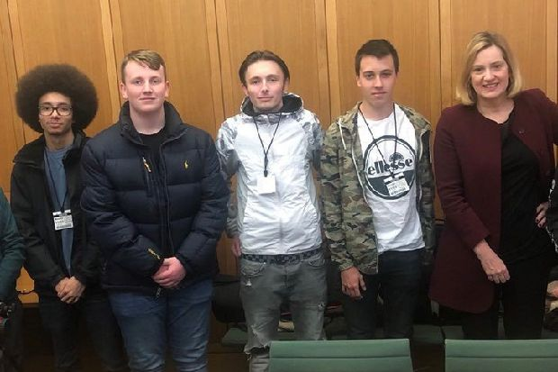 Hastings college students quiz Amber Rudd on homelessness and global warming