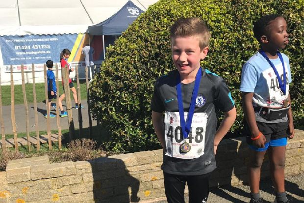 Big hearted eight year old helps homeless by taking on Hastings Half Marathon Mini Run.