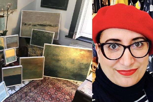 Hastings woman praises power of social media after stolen paintings found
