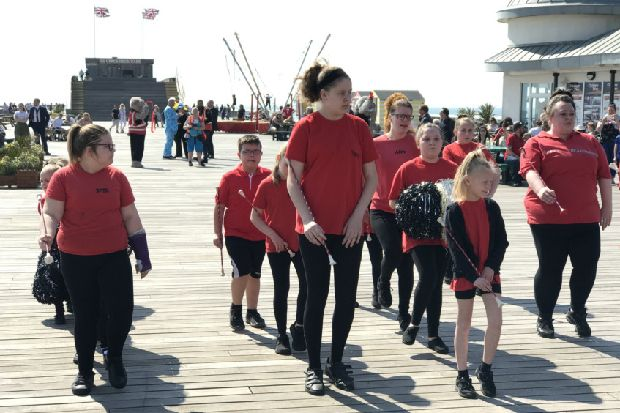 Hastings Pier re-opens with a twirl on Easter Saturday