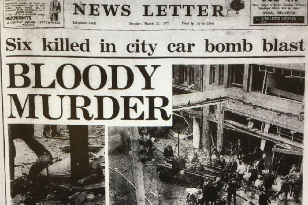The 1972 bomb outside News Letter that killed seven and injured 147