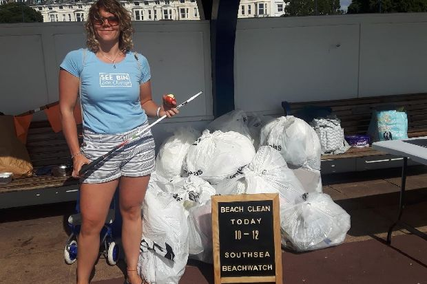 WATCH: Litter pickers collect almost 120kg of rubbish at Southsea beach clean