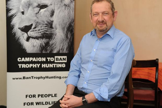 This Gosport man is backed by Ricky Gervais, Ralph Fiennes and Leonardo Di Caprio in fight to outlaw trophy hunting
