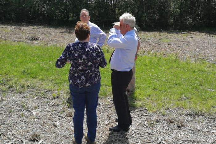 John Bercow closely inspects HS2 work