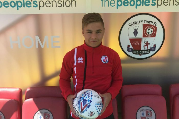 Crawley Town new signing Brian Galach. Picture courtesy of Crawley Town  SUS-180628 47bc22ac8