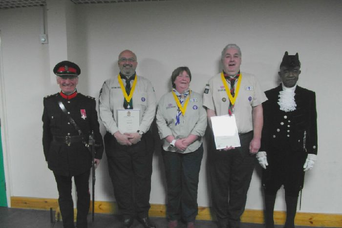 Daventry district Scout leaders honoured at awards ceremony